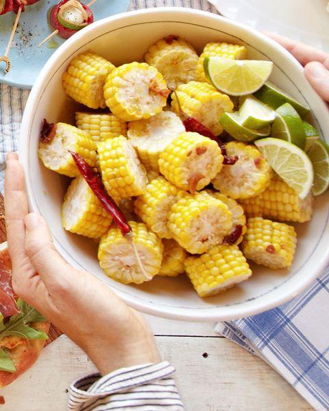 chile lime corn wheels recipe