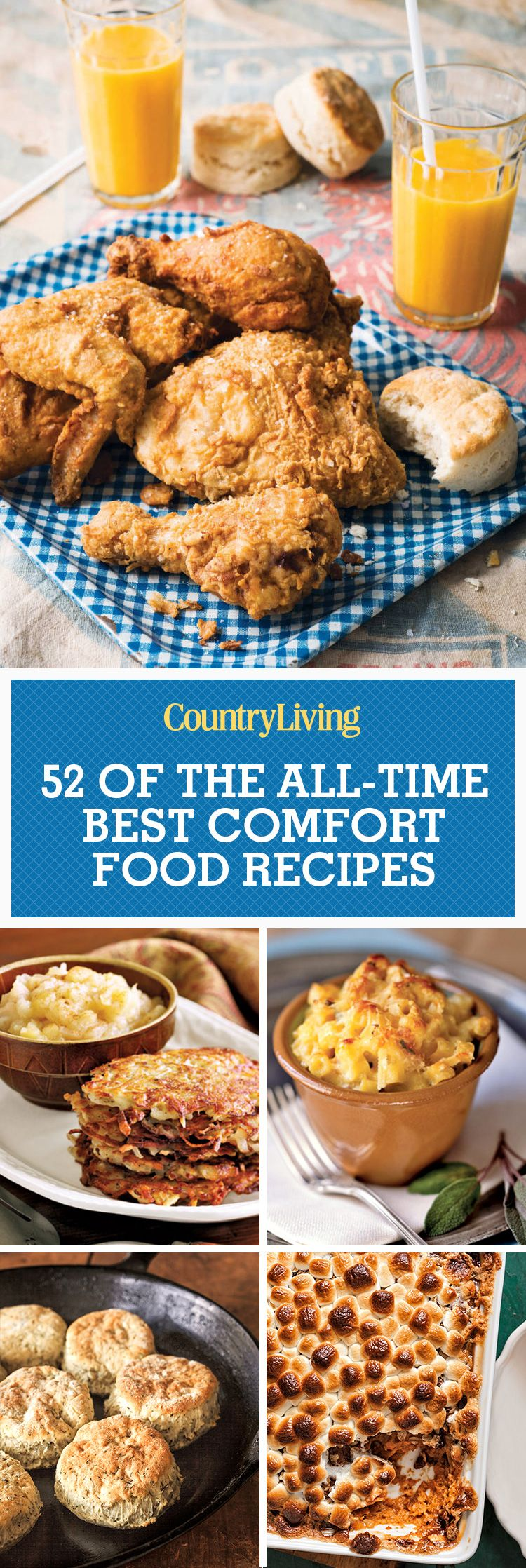 55 easy comfort food recipes - best southern comfort food ideas