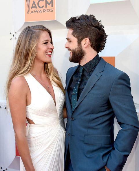 cabb16e736 How Thomas Rhett and Wife Lauren Akins Met - Thomas Rhett s Marriage ...