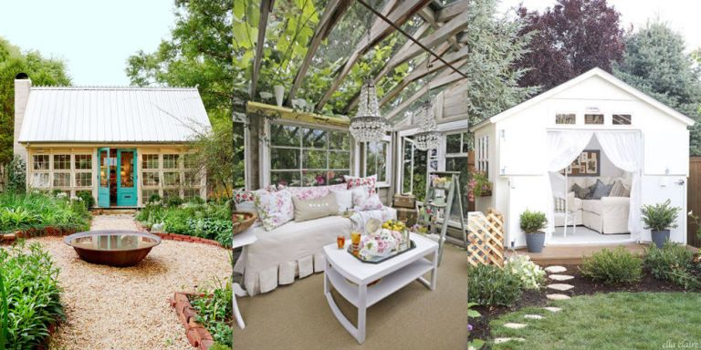 Forget Man Caves These She Sheds Complete With Chandeliers Gl Ceilings And Gorgeous Furnishings Are The Ultimate Garden Escapes