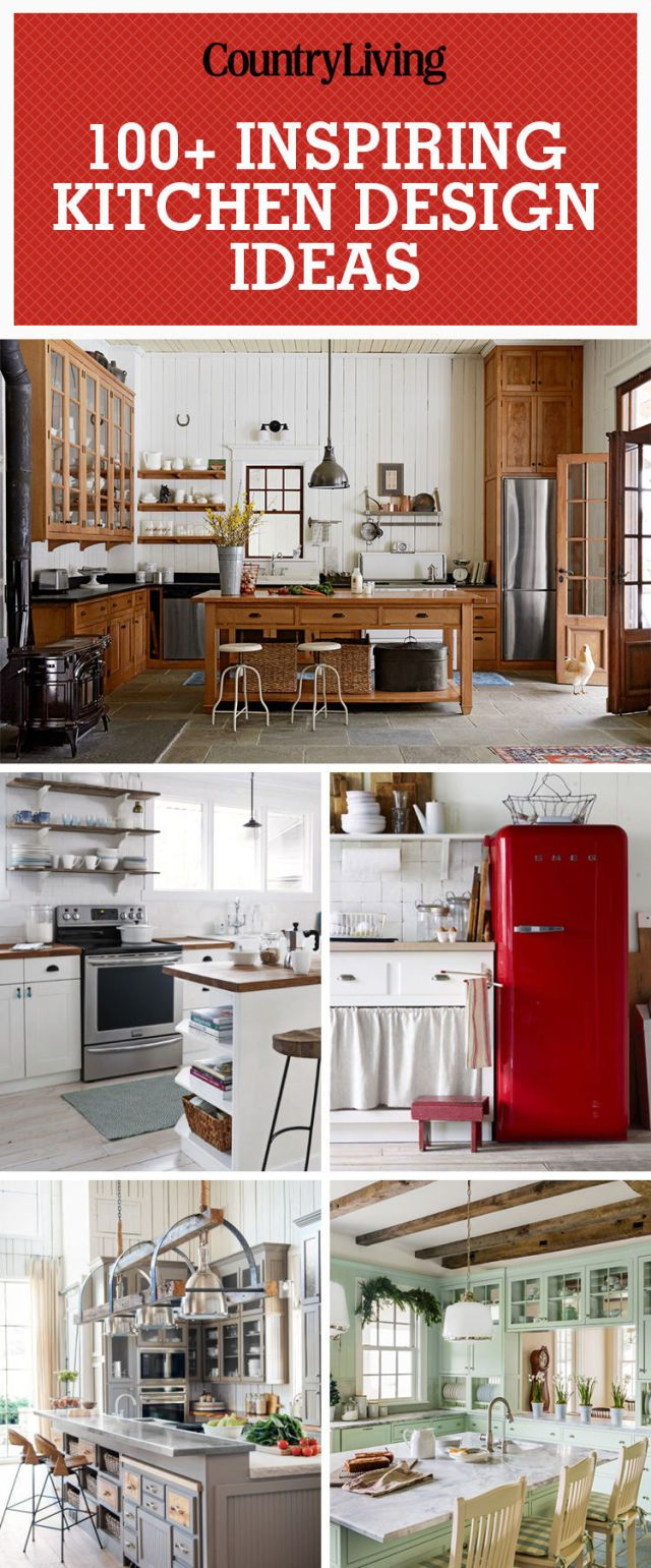 100 kitchen design ideas pictures of country kitchen decorating rh countryliving com