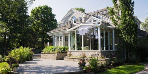 Plant, Property, House, Garden, Real estate, Residential area, Building, Home, Shrub, Door,