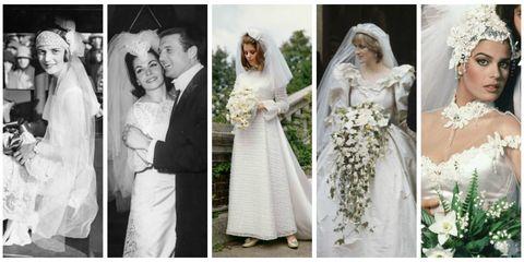 Wedding dress, Gown, Photograph, White, Veil, Dress, Clothing, Bridal clothing, Bride, Bridal veil,