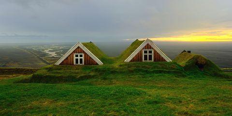 Green, House, Landscape, Highland, Grassland, Land lot, Slope, Rural area, Ecoregion, Plain,