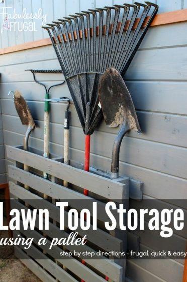 Lawn Tool Storage
