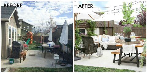Furniture, Real estate, Outdoor furniture, Residential area, Home, House, Shade, Backyard, Garden, Yard,