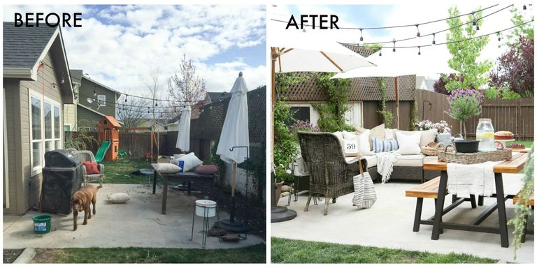 Patio makeover ideas how to update your patio for summer for Cheap patio makeover ideas