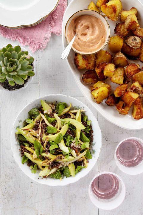 Roasted Wax Bean, Avocado & Crispy Quinoa Salad Recipe