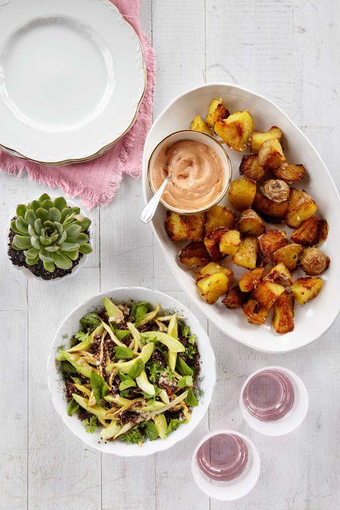 Crispy Twice-Cooked Potatoes with Paprika Mayo Recipe