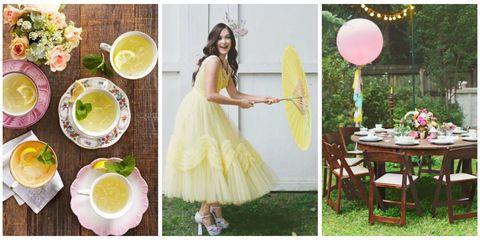 Yellow, Green, Dress, Lemon, Citrus, Fruit, Drink, Formal wear, Meyer lemon, Serveware,