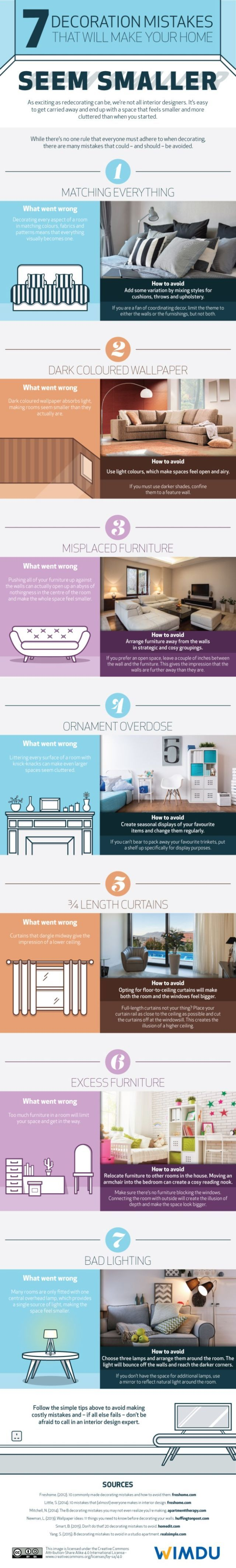 7 Decorating Mistakes That Make Your Home Feel Smaller