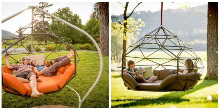 This Funky Outdoor Swing Is The Ultimate Way To Relax This Summer Porch Swing Bed And Chair