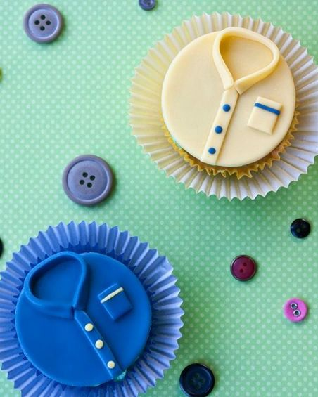 Shirt and Tie Cupcakes