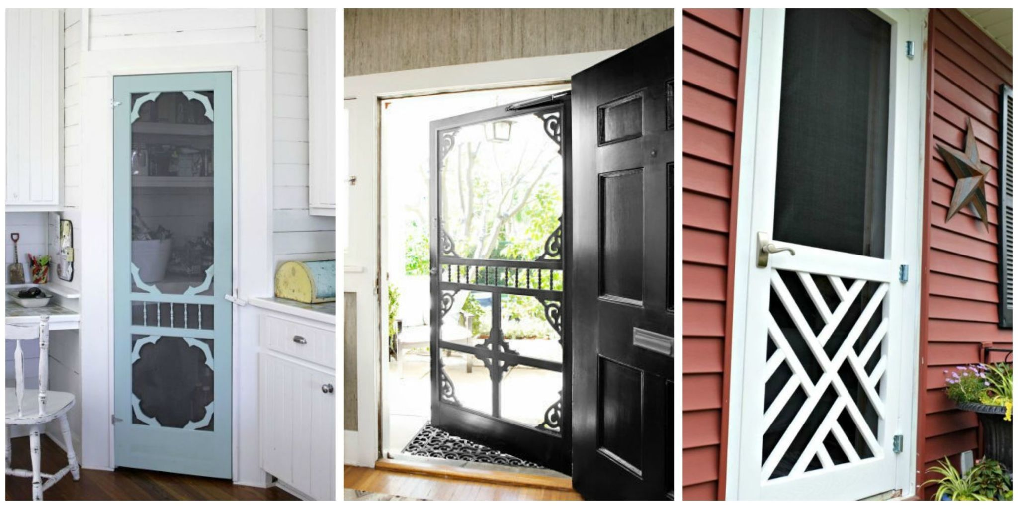 Because it\u0027s not a country house without a screen door. & Screen Door Ideas - Ways to Use Screen Doors