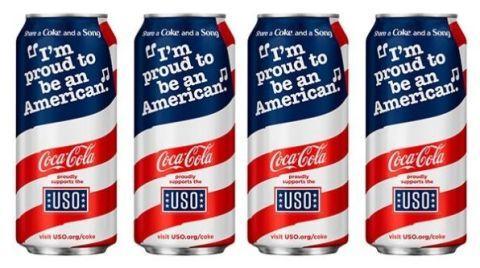 Patriotic Coke Cans