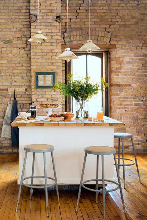 Wood, Room, Table, Furniture, Floor, Flooring, Light fixture, Hardwood, Wood flooring, Brick,