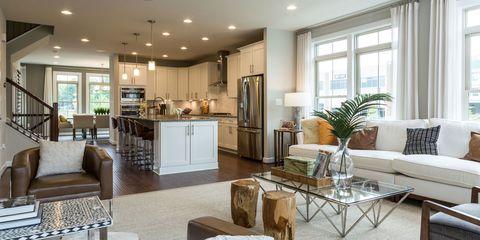 Room, Interior design, Lighting, Wood, Floor, Property, Furniture, Home, Flooring, Living room,