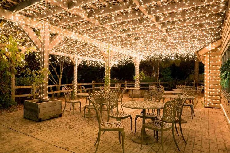 How To Hang Outdoor String Lights, Outdoor Patio Light