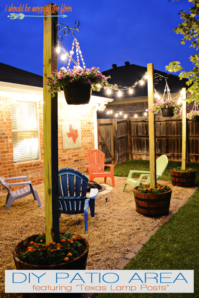 20 backyard lighting ideas how to hang outdoor string lights diy texas lamp post courtesy of i should be mopping the floor solutioingenieria Images