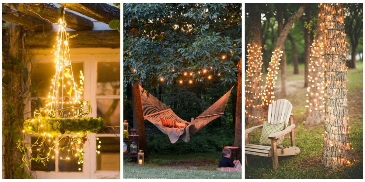 18 Backyard Lighting Ideas - How to Hang Outdoor String Lights on Ideas For String Lights In Backyard id=51234