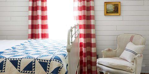 Room, Interior design, Textile, Red, Bed, Linens, Bed sheet, Bedding, Bedroom, Picture frame,