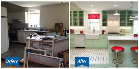 This Colorful Retro Kitchen Makeover Will Make You Feel Cheery 50s - Retro-kitchen-design-you-never-seen-before