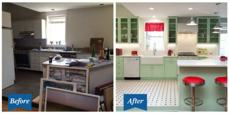 retro kitchen design. Of all the endless kitchen design ideas and color schemes out there  we bet you ve never seen one quite as smile inducing this This Colorful Retro Kitchen Makeover Will Make You Feel Cheery 50s