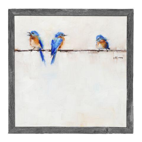 Blue, Bird, Paint, Art paint, Watercolor paint, Feather, Electric blue, Azure, Beak, Cobalt blue,