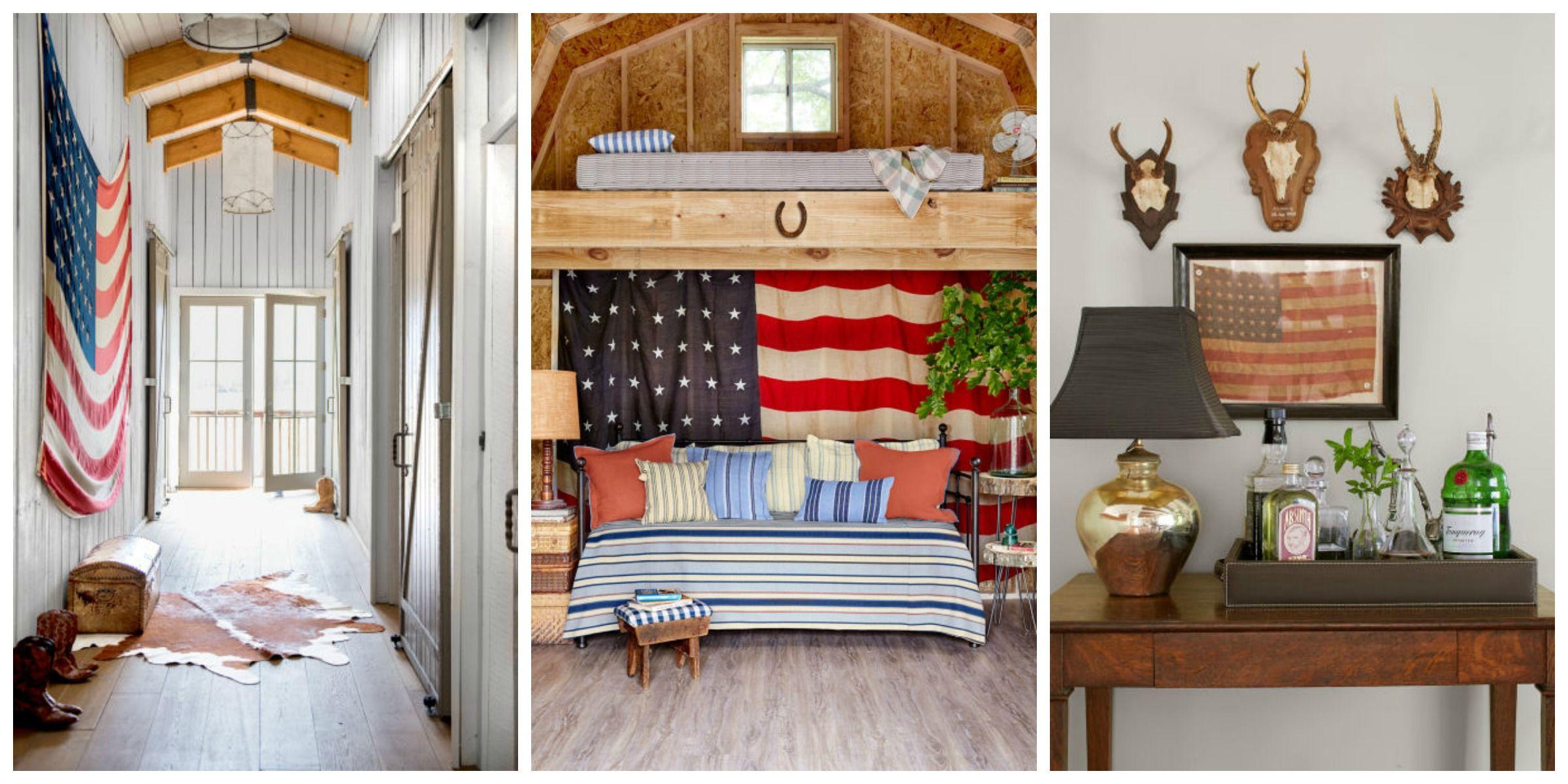 Americana Home Decor Antique Flags