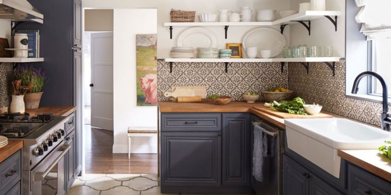 image & Two-Toned Kitchen Cabinets - Painting Your Kitchen Cabinets