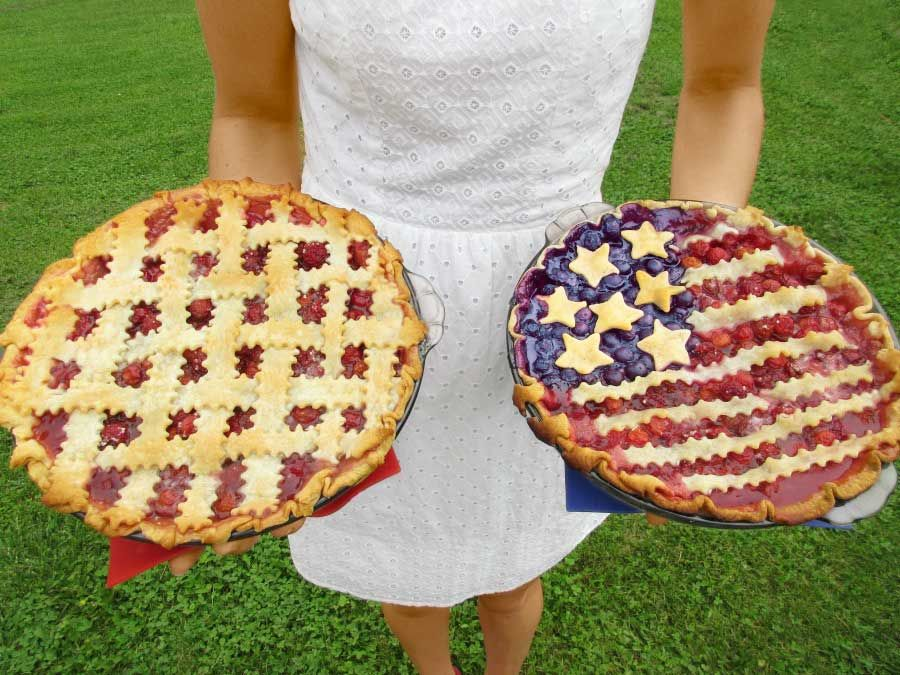american flag cherry pie