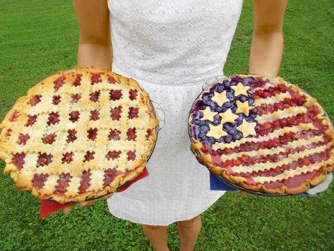 american flag cherry pie