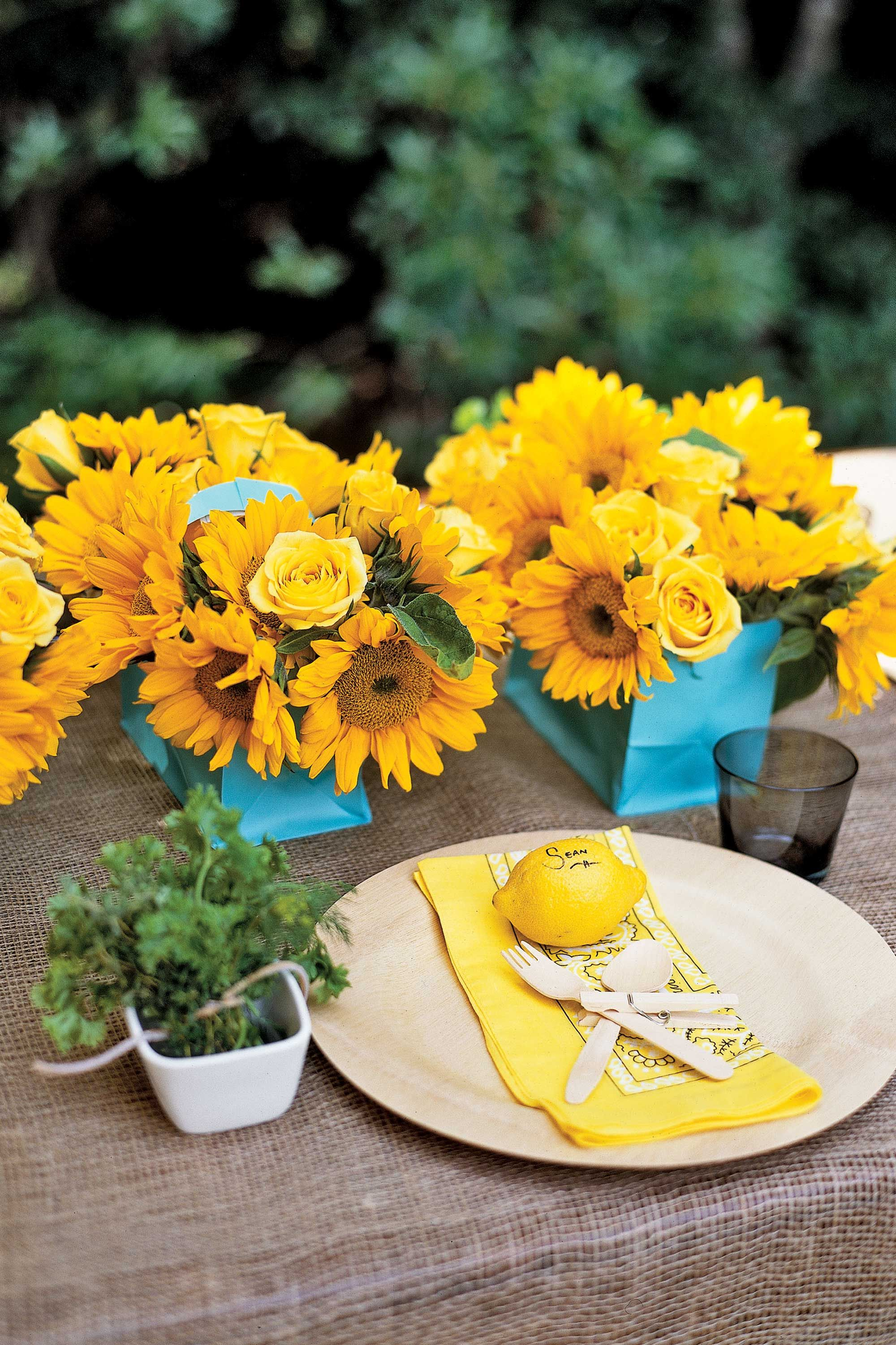 & Summer Table Settings - Party Centerpieces for Tables
