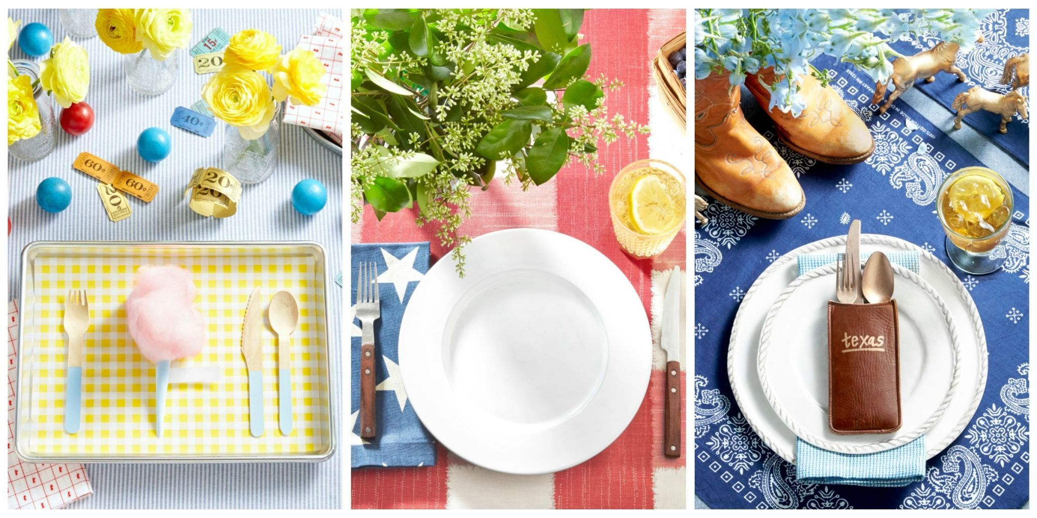 These summery place settings dish out plenty of creativity.  sc 1 st  Country Living Magazine & Summer Table Settings - Party Centerpieces for Tables
