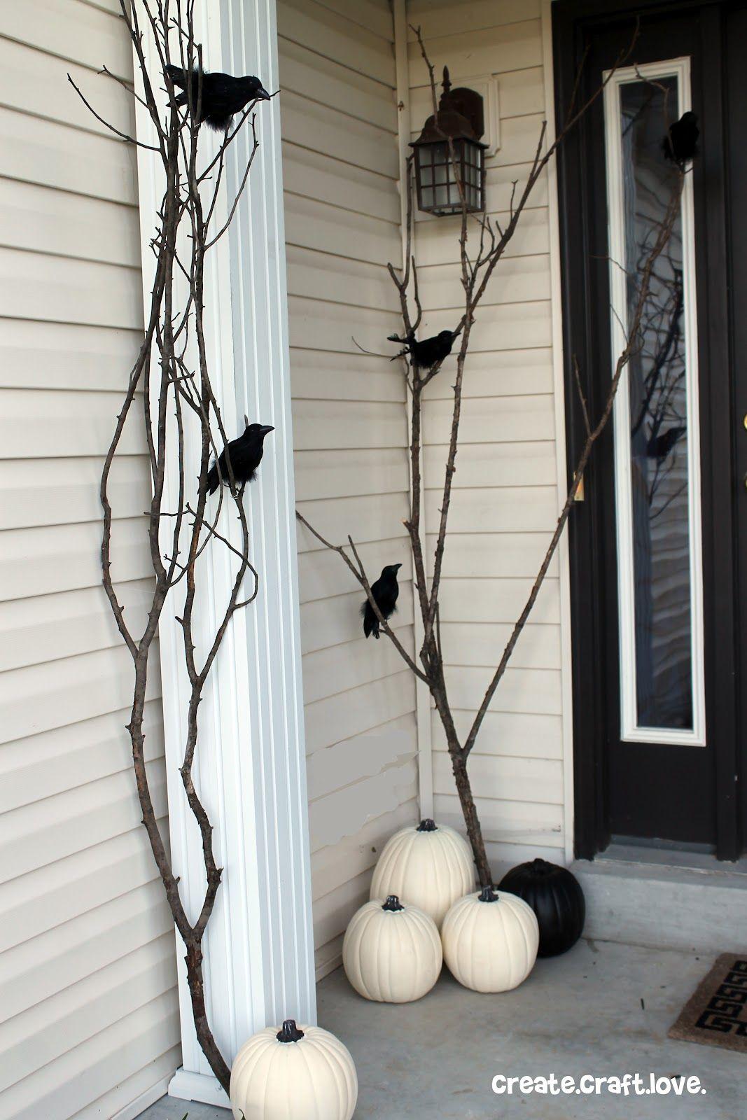 outdoor halloween decorations ravens