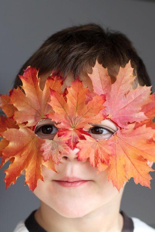 Diy Halloween Masks Leaf