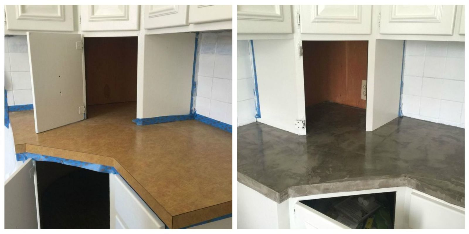 The Easiest Way To Fake Concrete Countertops