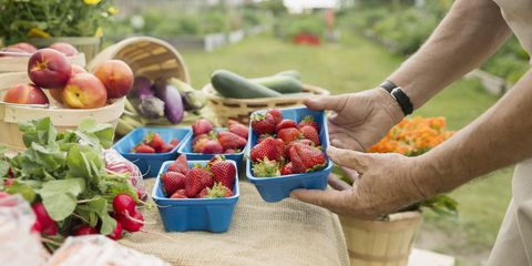 Local food, Food, Natural foods, Produce, Hand, Whole food, Fruit, People in nature, Vegan nutrition, Food group,