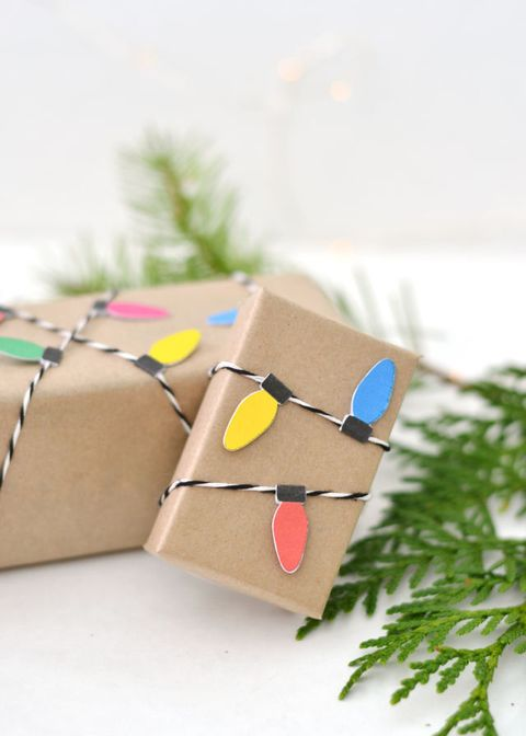 gift wrapping idea lights