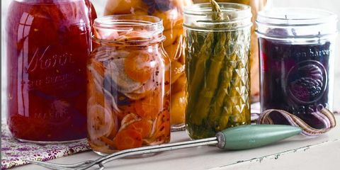 Food, Pickling, Produce, Ingredient, Food storage containers, Preserved food, Canning, Mason jar, Achaar, Food storage,