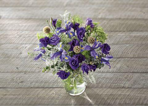 Blue, Bouquet, Petal, Flower, Purple, Violet, Lavender, Cut flowers, Floristry, Flowering plant,