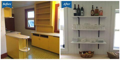 Room, Bottle, Interior design, Shelving, Cabinetry, Drawer, Cupboard, Shelf, Drink, Glass bottle,