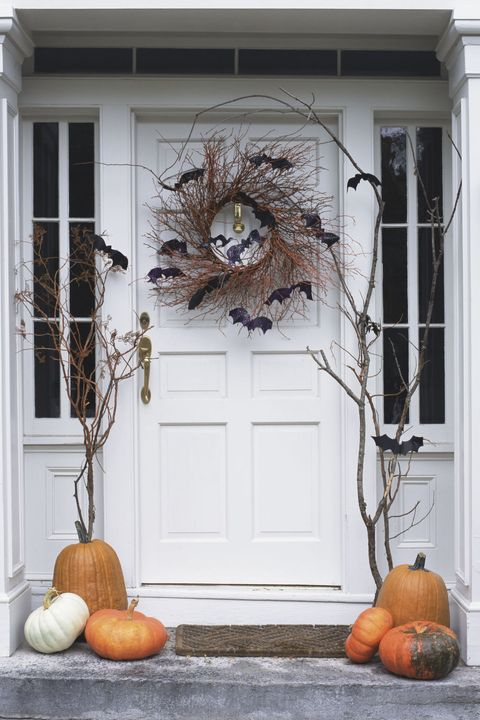 outdoor halloween decorations batty front door