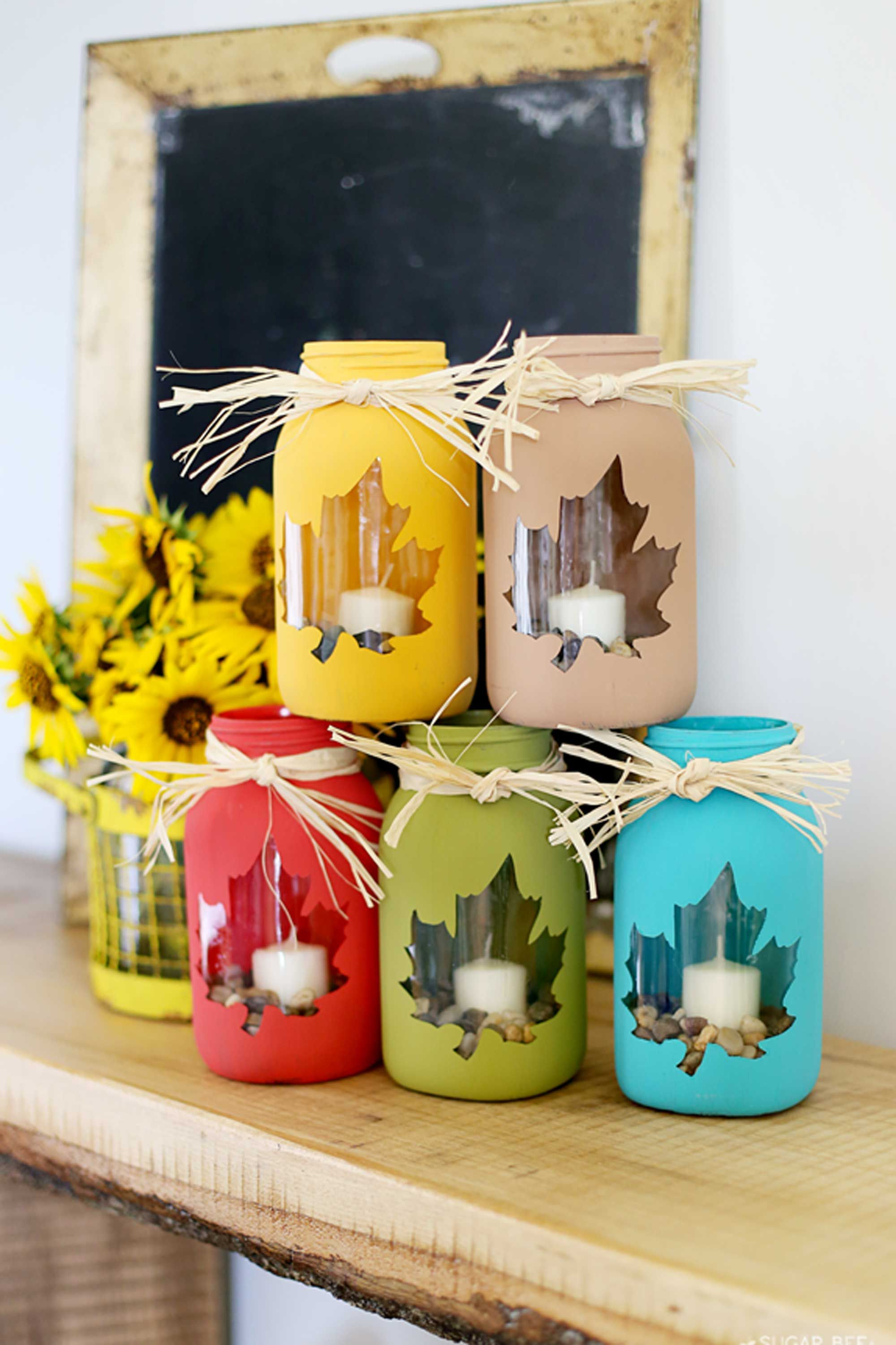 25 Mason Jar Fall Crafts Autumn Diy Ideas With Mason Jars