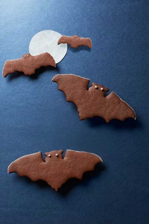 spiced chocolate bat cookies