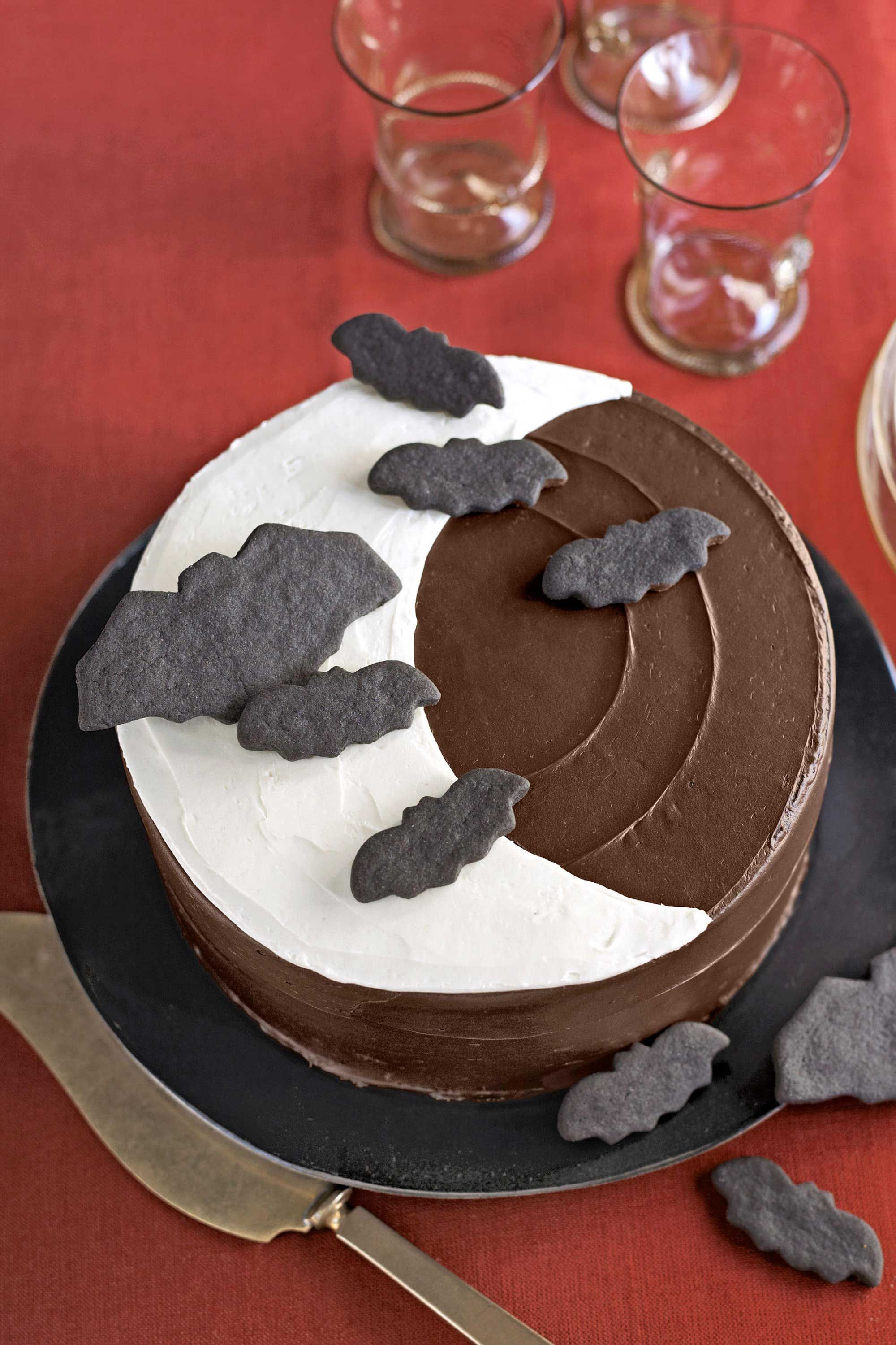 Chocolate cake with white topping scene two