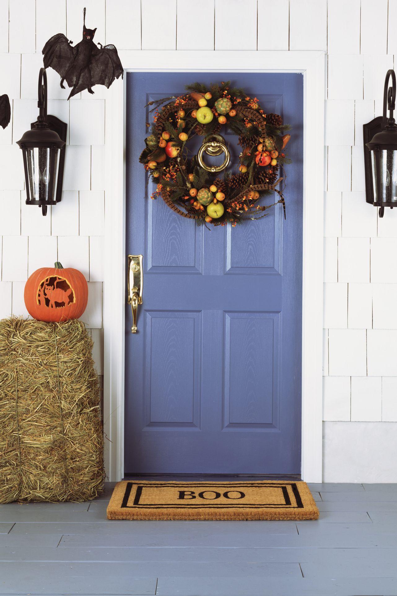 outdoor halloween decorations festive front door