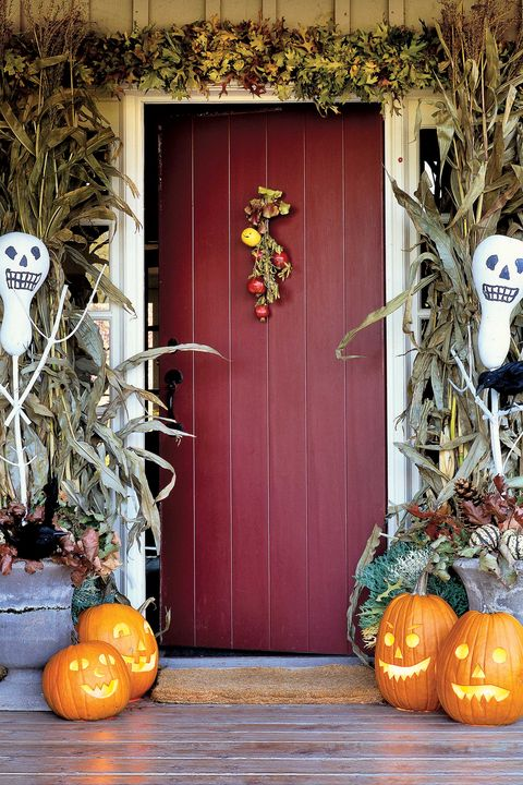halloween entrance decorations