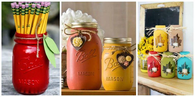 Fall Mason Jar Decorations Extraordinary 30 Mason Jar Fall Crafts  Autumn Diy Ideas With Mason Jars 2018
