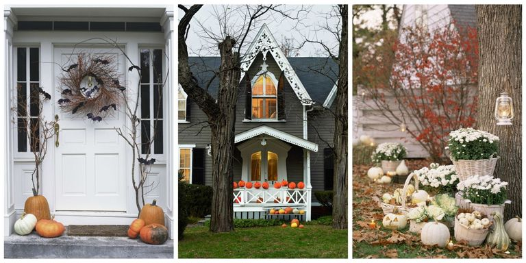 Halloween Decorations Ideas Yard 30 best outdoor halloween decoration ideas easy halloween yard trick and treat your neighbors with these wicked ways to transform your front door porch or yard for halloween workwithnaturefo